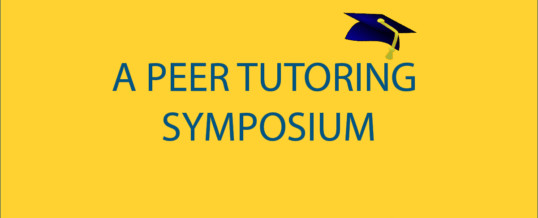 Peer Tutoring Symposium, Oakland CA