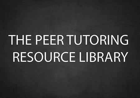 peer tutoring resource center library