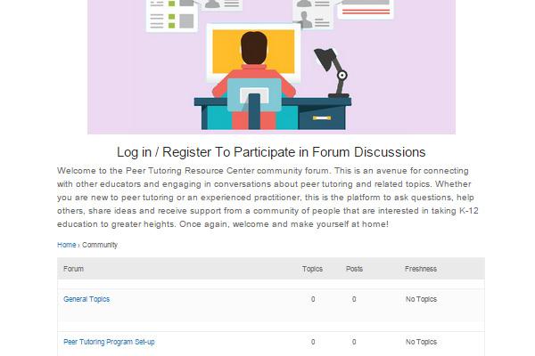 peer tutoring discussion forum