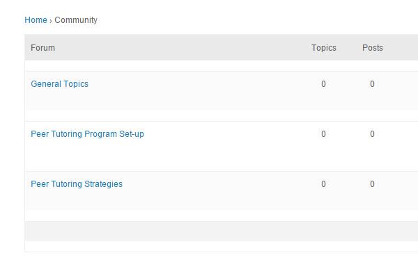 peer tutoring discussion forums
