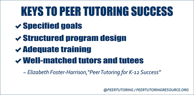 peer tutoring in reading comprehension tips